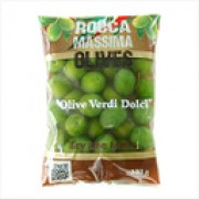ラ・ロッカ グリーンオリーブ小粒100g / La Rocca Small Sweet Green Olives 100g