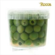 ラ・ロッカ グリーンオリーブ種無し小粒 / La Rocca Small Sweet Pitted Green Olives